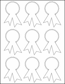 """Sheet of 2.3414"""" x 3.4028"""" Removable White Matte labels"""