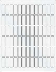 """Sheet of 0.5"""" x 1.5"""" Clear Matte Inkjet labels"""