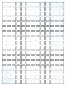 "Sheet of 0.5"" x 0.5"" Clear Gloss Inkjet labels"