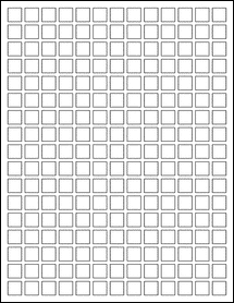 """Sheet of 0.5"""" x 0.5"""" Removable White Matte labels"""