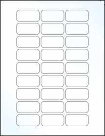 "Sheet of 1.875"" x 0.9375"" Clear Gloss Inkjet labels"