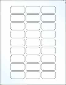 """Sheet of 1.875"""" x 0.9375"""" Clear Gloss Laser labels"""