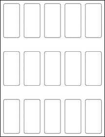 """Sheet of 1.3125"""" x 2.75"""" Removable White Matte labels"""