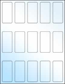 """Sheet of 1.3125"""" x 2.75"""" White Gloss Laser labels"""