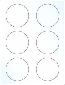 """Sheet of 3"""" Circle Clear Gloss Laser labels"""