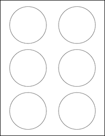 """Sheet of 3"""" Circle Removable White Matte labels"""