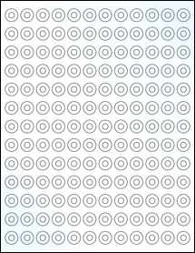 """Sheet of 0.5625"""" Circle Clear Gloss Laser labels"""