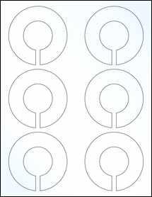 "Sheet of 3.25"" x 3.25"" Clear Gloss Inkjet labels"