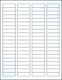 "Sheet of 1.75"" x 0.5"" Clear Gloss Inkjet labels"