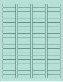 "Sheet of 1.75"" x 0.5"" Pastel Green labels"
