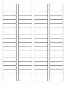 "Sheet of 1.75"" x 0.5"" Standard White Matte labels"