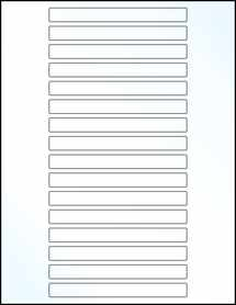 """Sheet of 5"""" x 0.5"""" Clear Gloss Laser labels"""
