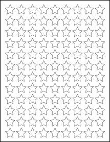 """Sheet of 0.75"""" x 0.75"""" Weatherproof Gloss Inkjet labels"""