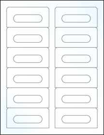 """Sheet of 3.5"""" x 1.6562"""" Clear Gloss Laser labels"""
