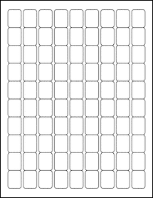 "OL28 - 0.75"" x 1"" Blank Label Template for Maestro Label Designer"