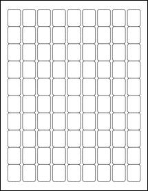 "OL28- 0.75"" x 1"" Blank Label Template"