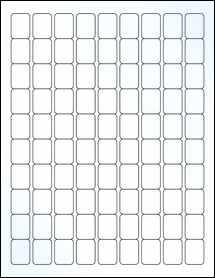 "Sheet of 0.75"" x 1"" Clear Gloss Inkjet labels"