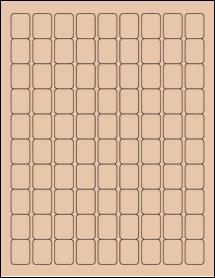 "Sheet of 0.75"" x 1"" Light Tan labels"