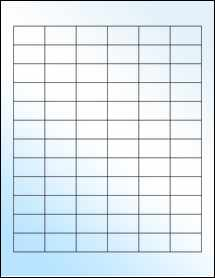 """Sheet of 1.25"""" x 0.75"""" White Gloss Laser labels"""