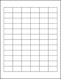 "Sheet of 1.25"" x 0.75"" Standard White Matte labels"