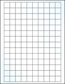 """Sheet of 0.75"""" x 0.75"""" Square Clear Gloss Inkjet labels"""
