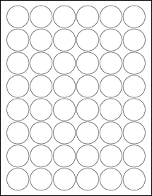 """Sheet of 1.25"""" Circle 100% Recycled White labels"""