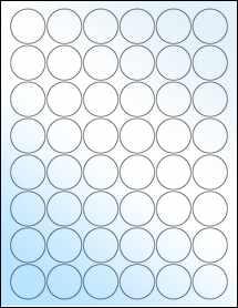 "Sheet of 1.25"" Circle White Gloss Laser labels"