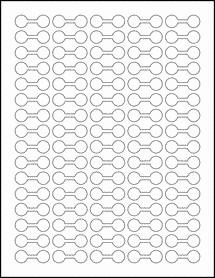 """Sheet of 1.375"""" x 0.5"""" Weatherproof Gloss Inkjet labels"""