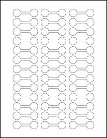 "Sheet of 2"" x 0.625"" Standard White Matte labels"