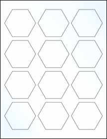 """Sheet of 2.5"""" x 2.1651"""" Clear Gloss Laser labels"""