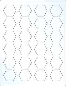 "Sheet of 1.67"" x 1.4463"" Clear Gloss Inkjet labels"