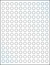 """Sheet of 0.5"""" Circle Clear Gloss Laser labels"""