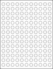 "Sheet of 0.5"" Circle Weatherproof Polyester Laser labels"