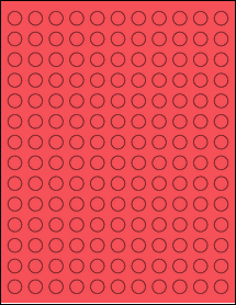 """Sheet of 0.5"""" Circle True Red labels"""