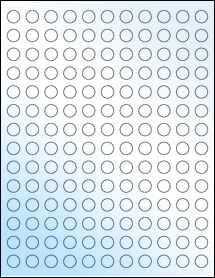 "Sheet of 0.5"" Circle White Gloss Laser labels"