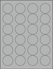 "Sheet of 1.67"" Circle True Gray labels"
