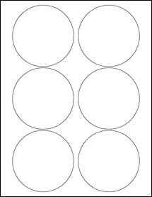 """Sheet of 3.5"""" Circle Removable White Matte labels"""