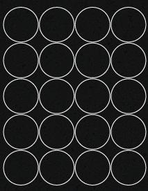 "Sheet of 2"" Circle Chalkboard Labels labels"