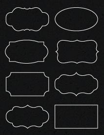 """Sheet of 3.5"""" x 2"""" Chalkboard Labels labels"""