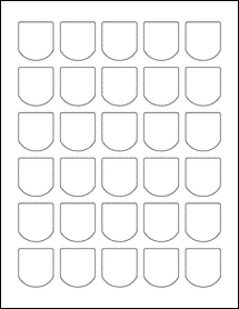 """Sheet of 1.25"""" x 1.375"""" 100% Recycled White labels"""