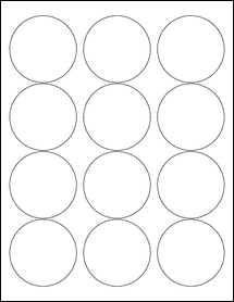 "OL350- 2.5"" Circle Blank Label Template"