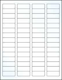 "Sheet of 1.75"" x 0.666"" Clear Gloss Inkjet labels"