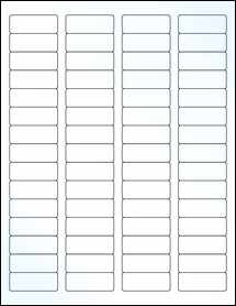 """Sheet of 1.75"""" x 0.666"""" Clear Gloss Laser labels"""
