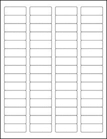 """Sheet of 1.75"""" x 0.666"""" Weatherproof Gloss Inkjet labels"""