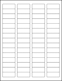 """Sheet of 1.75"""" x 0.666"""" Removable White Matte labels"""