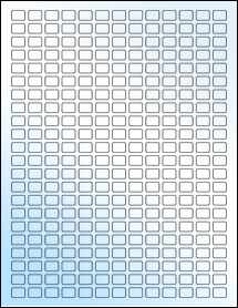 """Sheet of 0.48"""" x 0.35"""" White Gloss Laser labels"""