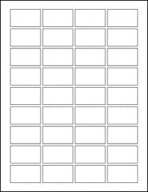 """Sheet of 1.75"""" x 1""""  labels"""