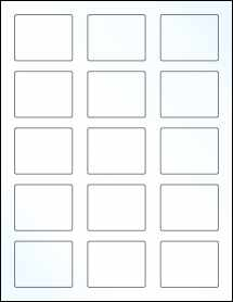 """Sheet of 2.125"""" x 1.6875"""" Clear Gloss Laser labels"""