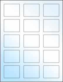 """Sheet of 2.125"""" x 1.6875"""" White Gloss Laser labels"""