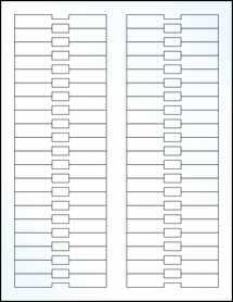 "Sheet of 3.375"" x 0.5"" Clear Gloss Inkjet labels"